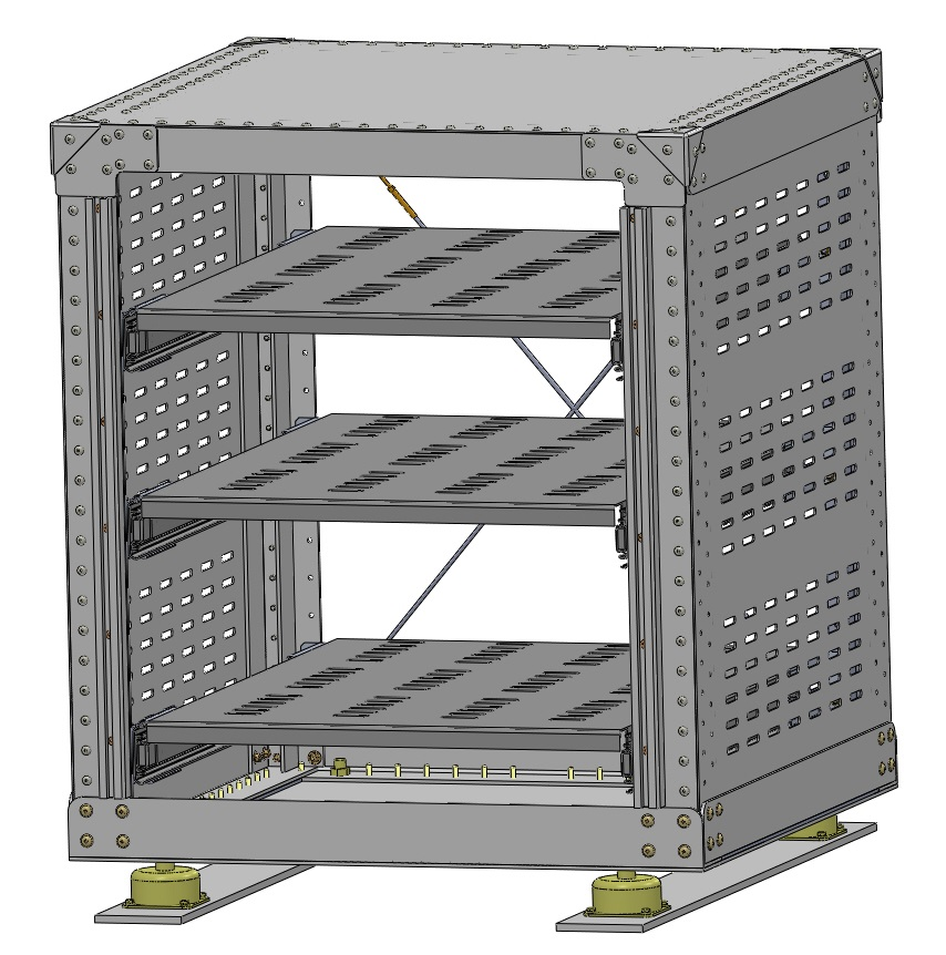 24 INCH EQUIPMENT RACK – Lake Central Air Services